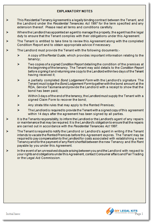 tenancy agreement form template – Tenancy Agreement Form Free