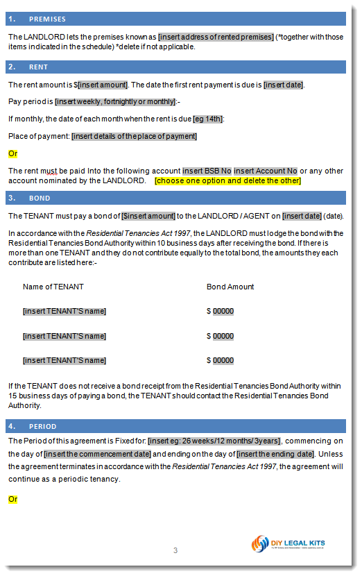 Rental Agreement Victoria Australia Tenancy