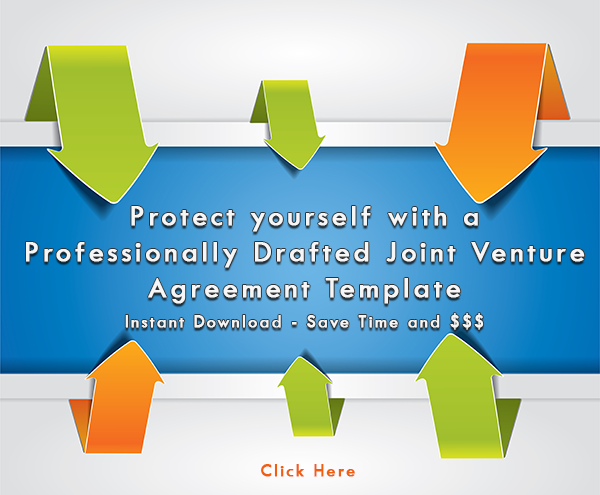 Protect yourself with a JV Agreement template