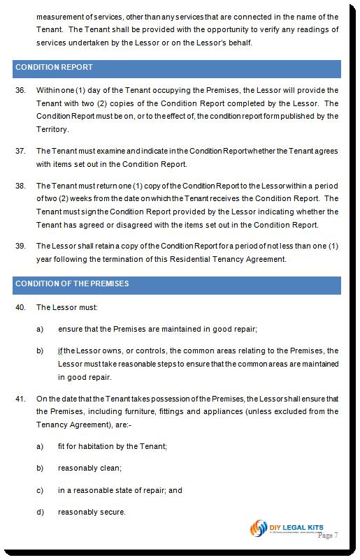 Rental Agreement Act Australian Capital Territory